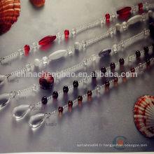 Chine fournisseur de gros rideaux de perles prêts à l'emploi pour la porte patio