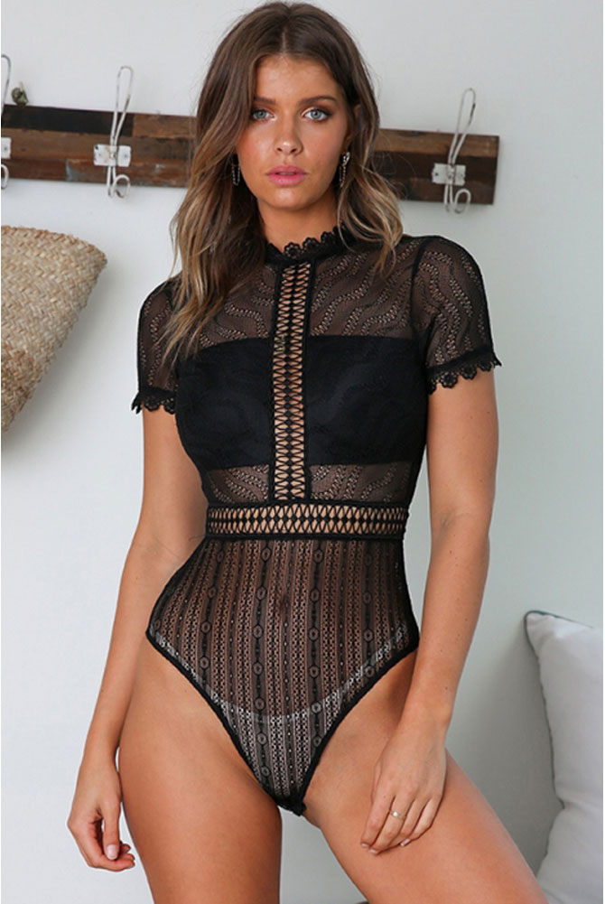 see through strips lace lingerie