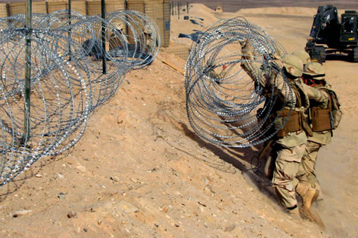 concertina-wire-military-base
