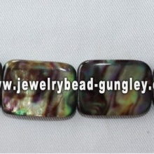 dyed rectangle freshwater shell beads