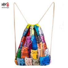 Новый красивый холст рюкзак сумка