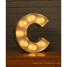 Usine directe des signes de lettre lumineux d'ampoule