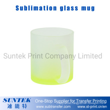 Sublimation 11oz Colored Yellow Frosted Glass