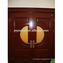 Puerta de puerta de madera de alta calidad con vidrio