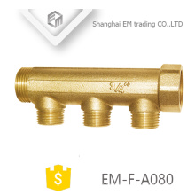 "EM-F-A080 3/4"" male union brass 3 way copper water manifold"