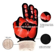 TE03 Hochtemperatur-Isolierofen-Handschuhe, 932F Extrem hitzebeständige Grill-Grill-Handschuhe zum Kochen