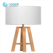 LEDER White LED Table Lamp