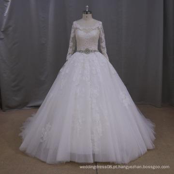 AK046 vestidos de casamento luxuosos, vestido de casamento russo