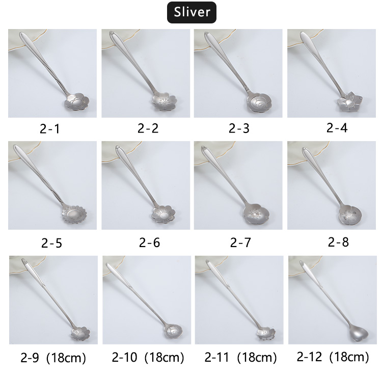 Stainless Flower Shape Spoon