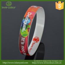 Custom Cheap 100% Silicone Souvenirs Wristband/Silicone Printed Band