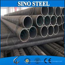 Precio del tubo de superficie negra de acero dulce soldado SSAW