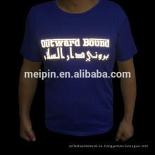 Etiqueta engomada reflexiva de la transferencia de calor para la camiseta