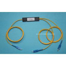 Acoplador de fibra óptica 1 * 2 con conector SC