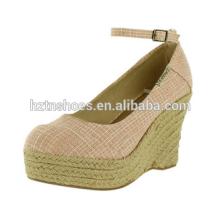 2015 Latest Design fashion sexy girls high heel woman shoe wedge pink sandal shoes