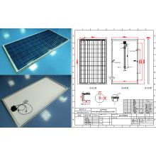 250 Вт Поликристаллических солнечных панелей фотоэлектрических модулей с CE RoHS ГЦК сертификацию TUV