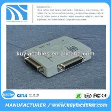 2 Port 25 Pin DB-25 Parallel Printer Sharing Switch Box (Auto)