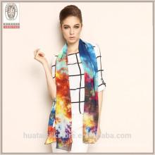 2015 New Style Fashion digital print silk Georgette Shawl Scarf