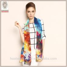 2015 Nueva bufanda de seda del mantón de Georgette de la impresión digital de la manera del estilo