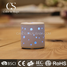 Lámpara de escritorio clásica de cerámica blanca led para estudio
