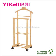 Top venda cabide de madeira maciça