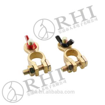 Collier de serrage d'écrou à oreilles en laiton / borne de batterie / borne de batterie automatique