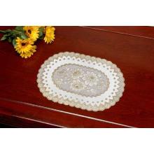 Tischset aus PVC mit goldener Spitze (JFCD-003)