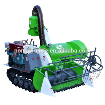 Mini Wheat Harvester 20HP Grain Harvester Crawler