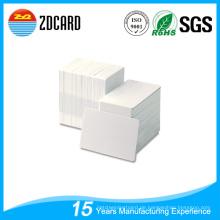 Clear 85 * 54mm Kartengröße ID Weiß Blank Kunststoff PVC Karten