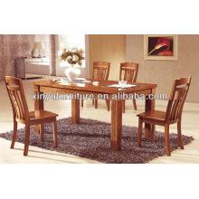 oak dining table with four cuboid legs XDW1284