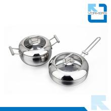 Moda Eco-Friendly Metal Tipo Aço Inoxidável Cookware Set Pot Set