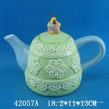 Пасхальный декор керамического чайного горшка в форме петуха