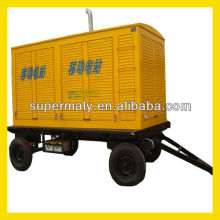 HOT! Trailer mounted generator for sale, 4 wheels+silent canopy
