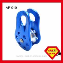 Alpinisme à montage fixe Coupe 13mm Corde Aluminium Single Pulley