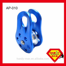 Mountaineering With Fixed-Sided Fit 13mm Rope Aluminum Single Pulley