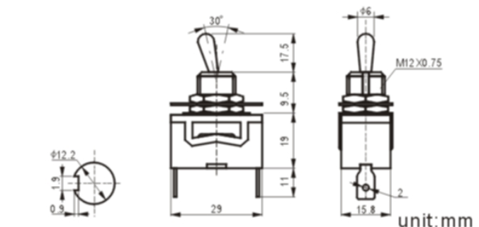 KN3(C)-101P-1 toggle switch