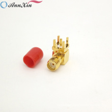 Factory Price Right Angle SMA Connector SMA Female Right Angle PCB Mount Connector