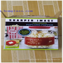 Fabricante de máquina de las palomitas las palomitas Popper vidrio borosilicato microondas palomitas de maíz Popper/maíz