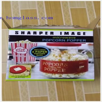 Pipoca de Microondas de Vidro de borosilicato / Popper de Milho / Máquina de Pipoca / Máquina de Pipoca