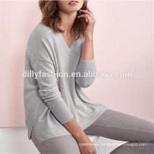 relaxed style lady's knitwear cashmere womens sweater