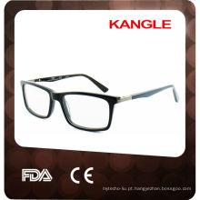 2017 novos moldes ópticos de acetato artesanal unisex, óculos