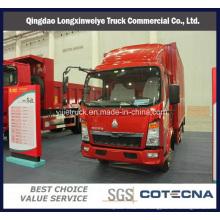 China Camión ligero del cargo del envase de Sinotruk HOWO 4 * 2 140HP