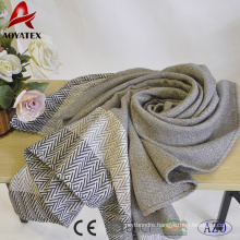 Cheap price 100% acrylic woven throw blanket with tassel