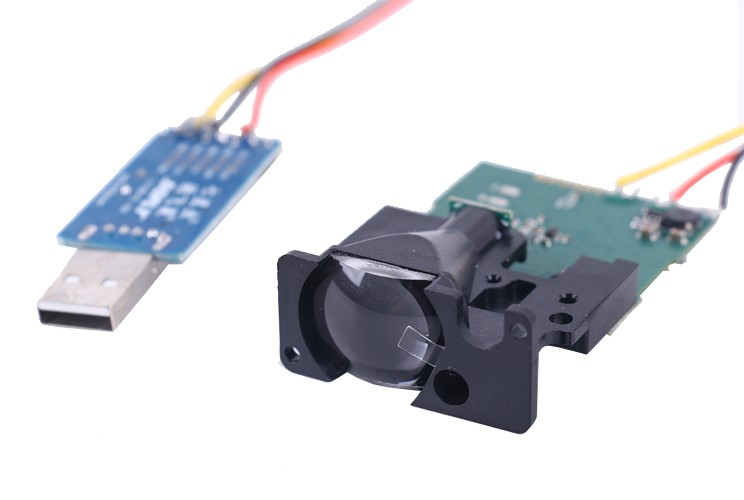 Compact Long Range Measurement Sensor Lens