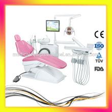Chaise dentaire de haute qualité avec éclairage LED