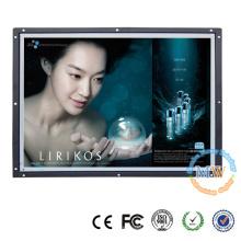 Brilho alto do quadro aberto de OEM / ODM monitor do LCD de 21,5 polegadas com porto de VGA HDMI