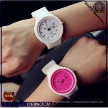 Yxl-993 2016 Fashion Casual Jelly Silicone Quartz Watch Montres-bracelets Montres pour femmes