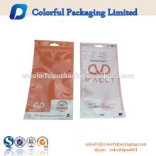 Sacos de plástico para tampões de ouvido / bateria / carregador de embalagem com zíper / furo do Euro
