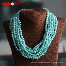 Multistrands Green Baroque Cultured Pearl Necklace Wholesale (E130113)