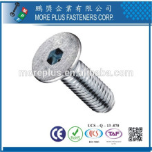Fabriqué en acier inoxydable Taiwann M5 Hex Drive Flat Head Machine Screw