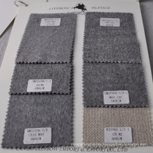 Grey color wool cashmere blend clothing fabric